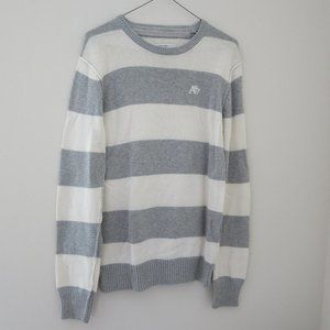 4/$25 Cotton Gray Stripped Sweater Aeropostale S